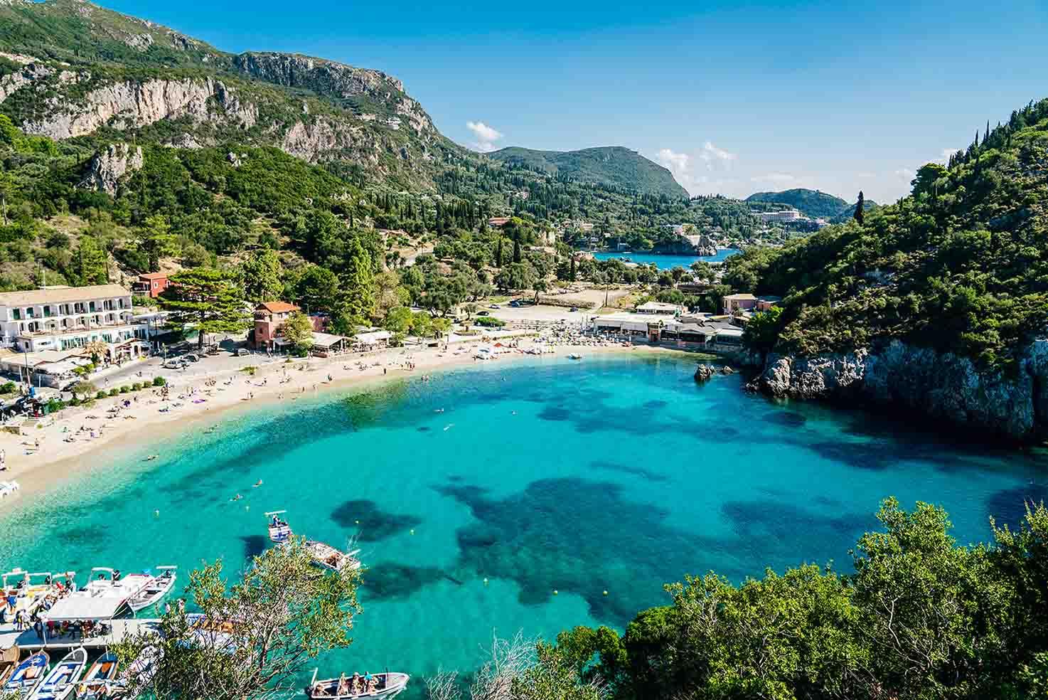 Παλαιοκαστρίτσα Παραλίες Paleokastritsa beaches
