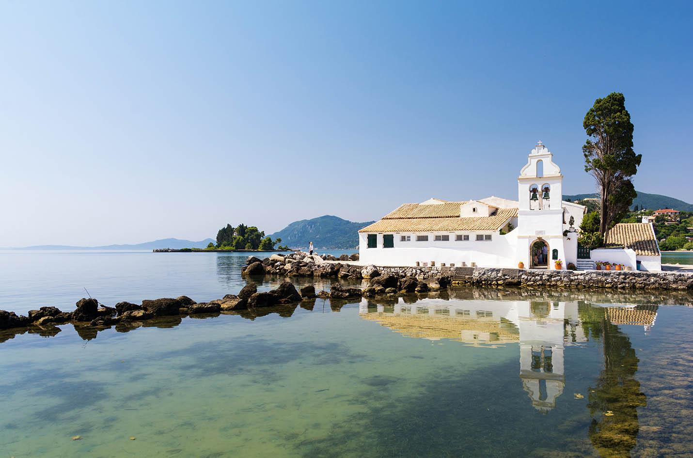 Vlacherna Monastery Kanoni Corfu mykerkyra.com