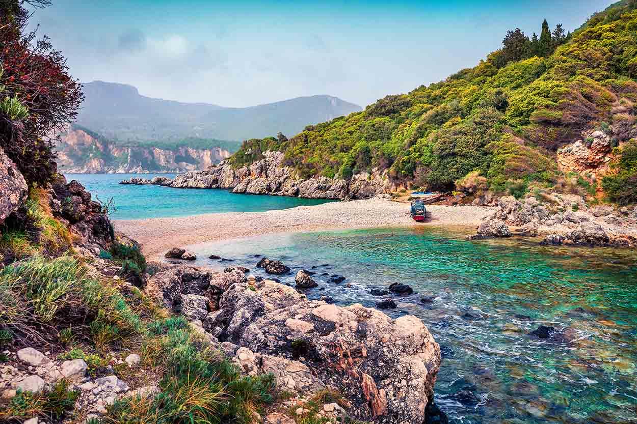 Limni beach Liapades Corfu