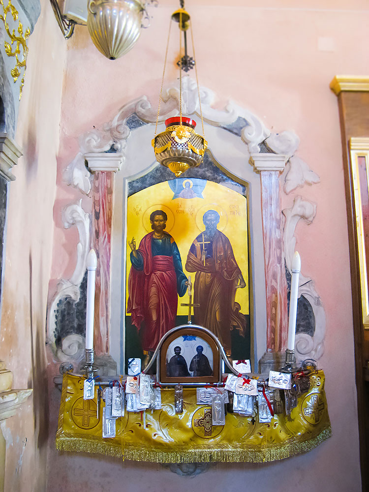 Church of the Holy Apostles Jason and Sosipater byzantine monument church mykerkyra.com