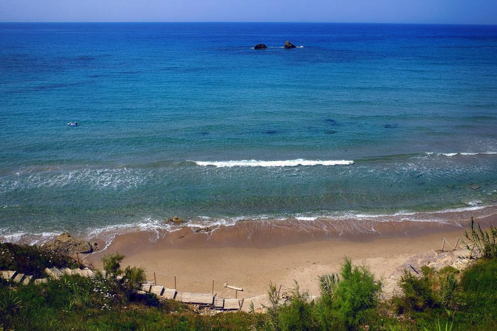 Kanouli beach Κανούλι mykerkyra