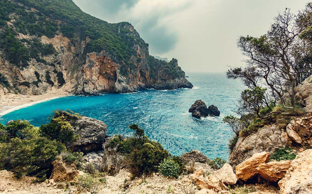 Giali beach Corfu