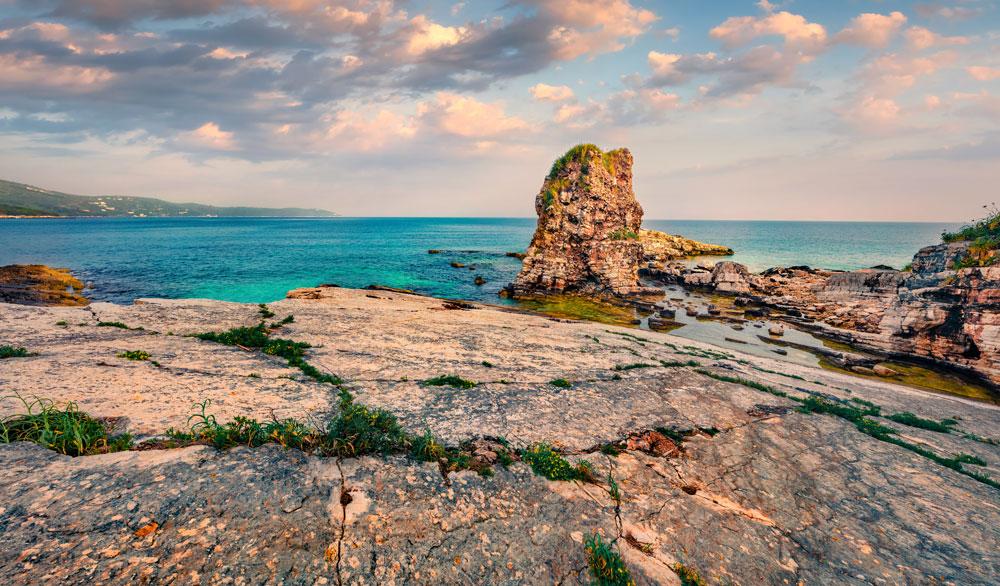 Kanoni beach Kassiopi Corfu